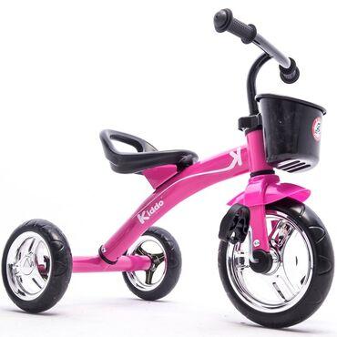 детский трехколесный в Кыргызстан: Трехколесный велосипед розового цвета, в отличном состоянии. Пользовал