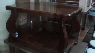 Новый журнальный столик,деревянный,размер 1*0. 6 в Бишкек