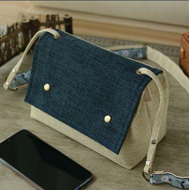 Женская сумка.Материал сумки комбинированный Хлопок + полиэстерВ
