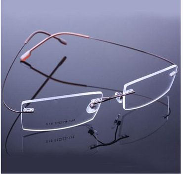 Fashion metal rimless eyeglasses frame spectacle lightweigh  - Novi Sad - slika 7