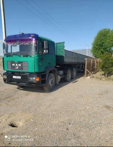 грузовые шины из европы в Кыргызстан: Ман тягач 464 с прицепом. Год 1999 прицеп шмитц 2000г. Ретардер
