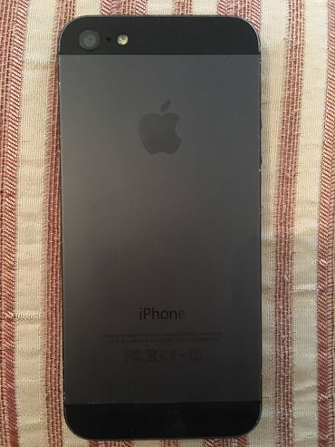 İşlənmiş iPhone 5 16 GB Qara (Jet Black)