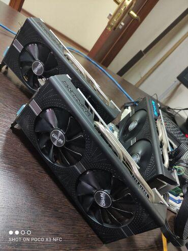 rx 570 4gb в Кыргызстан: Видеокарта для пк. Sapphire nitro rx 570 4gb ddr5 256 bit. Состояние о