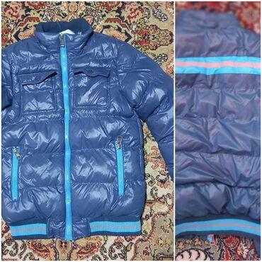 Plava jakna za dečaka vel 14 (odgovara vel 164)zimska