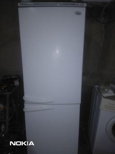 Электроника - Заречное: Б/у Двухкамерный | Белый холодильник Atlant