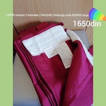 JYSK LUPIN zavese. Bordo 145x245. 2 zavese. Perive na 39 - Belgrade