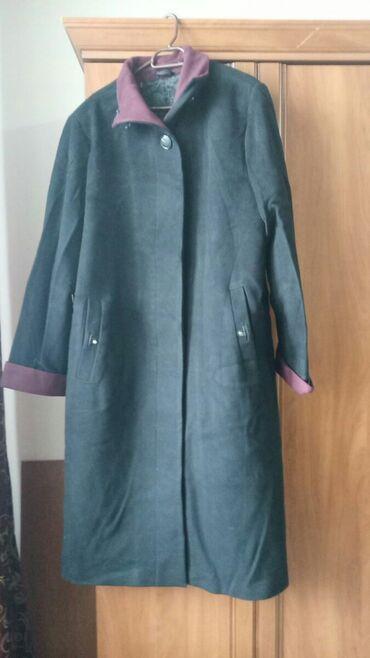 Женское длинное демисезонное пальто 56 размер б/у