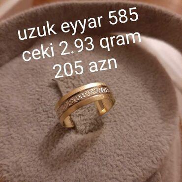 Qizil uzuk 585 eyyar ceki 2. 93 qram catdirilma var