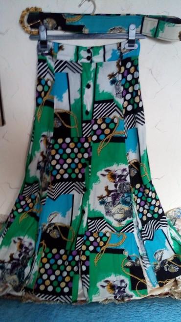 Suknja nova sa kaisem..76 i manje zbog lastiha u pojasu..duz..87cm.. - Kraljevo
