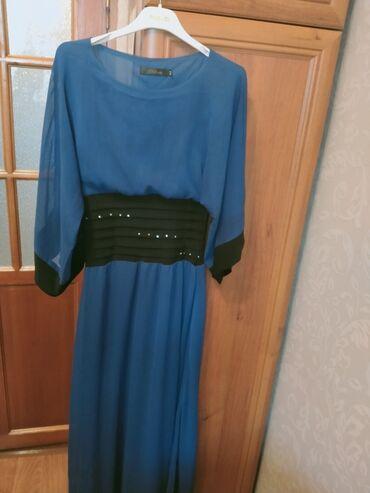 вечернее платье в пол синего цвета в Кыргызстан: Платье темно-синего цвета от 46 до 52р. в пол, состояние отличное