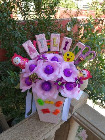 подарок девушке в Азербайджан: Подарок из конфет