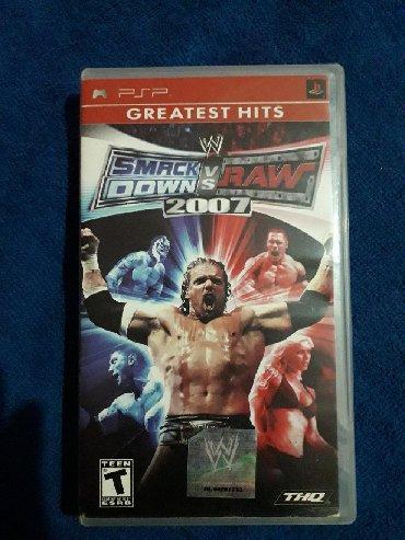 sony psp - Azərbaycan: PSP üçün oyun diski WWE SMACKDOWN vs RAW 2007