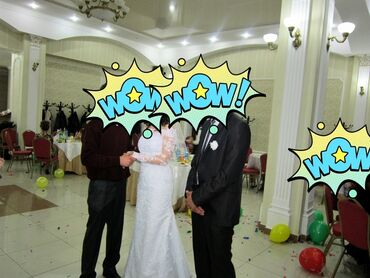 бу свадебние платье в Кыргызстан: Продаю свадебное платье ручной работы, шилось на заказ, размер на