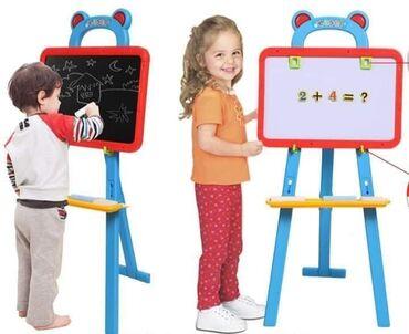 Dvostrana decija tabla za crtanje i pisanje 3u1Magična dvostrana tabla