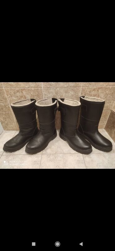 Мужской ботинкалар Жана өтүктөр таза кожа ичи мех жана кийиз менен 39