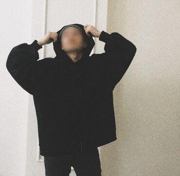 Новая Чёрная толстовка oversize   Материал:хлопок