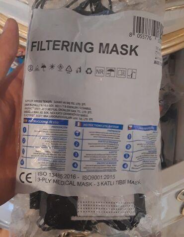 75 elan | TIBBI MASKALAR: Tibbi maska. Packanin qiymeti 4.70 manat. Minimal partiya 1000 packa