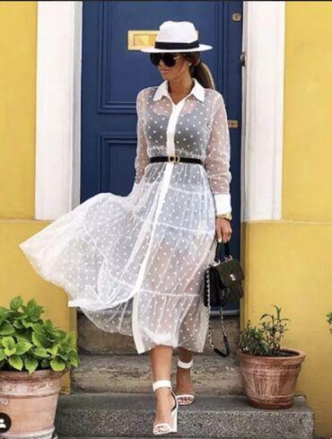 shapka zara dlja devochki в Кыргызстан: Платье Свободного кроя Zara M