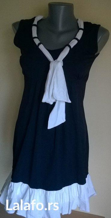 Kratka letnja haljinica ili tunika ..Velicina S/M  ..Bela traka oko - Nis