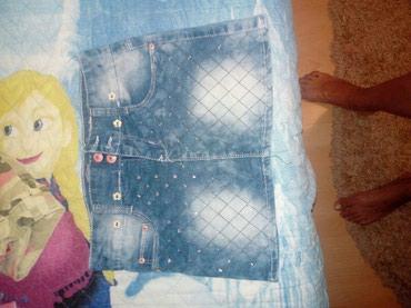 Prelepa teksas suknjica,moderna. Piše 10,ali realno je 8-ica. Kao nova - Cuprija