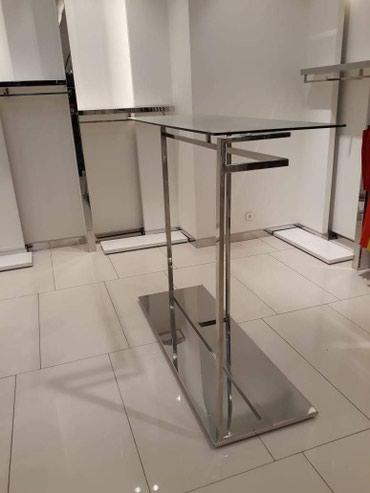 paslanmaz - Azərbaycan: Paslanmaz askılıq stand,üstü pişmiş 10 lu cam,ədət olaraq var