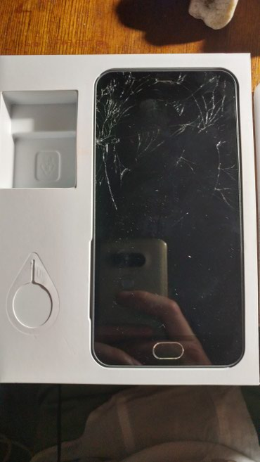 Meizu в Кыргызстан: Meizu M2 mini. Телефон рабочий, разбито стекло (тач работает). Две сим
