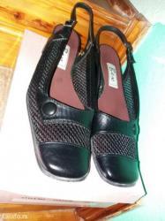 Braon kožne ženske Cipele