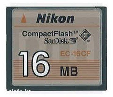 карты памяти для видеорегистратора в Кыргызстан: Compact Flash - флешкарта для фотоаппарата Nikon (б/у)Тип: Сompact