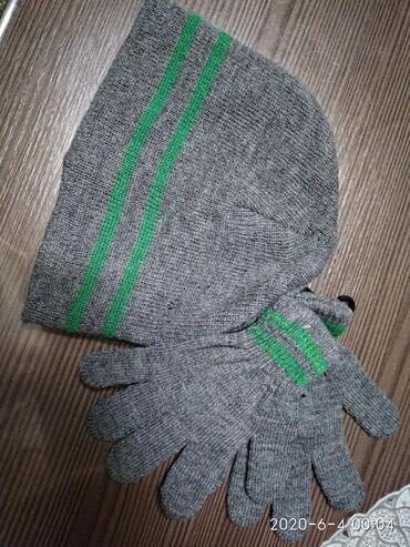 Продаю новый комплект для деток :шапочка+перчатки примерно до полтора