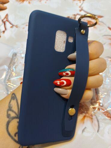 резиновый чехол в Азербайджан: Samsung A8plus kabura