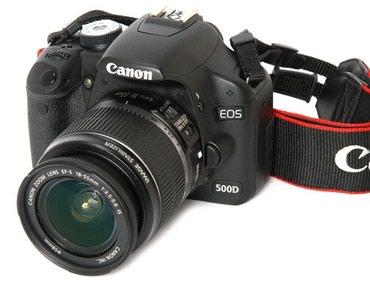 Сдаю в аренду фотоаппарат Canon 500D 500 сом в сутки. в Бишкек