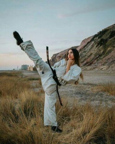 секции дзюдо в бишкеке in Кыргызстан   СПОРТИВНАЯ ФОРМА: Продаётся дзюдога, одевалась на пару тренировок. 100% хлопок  Белого ц