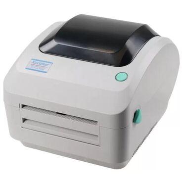 термотрансферный принтер этикеток в Кыргызстан: Термопринтер Xprinter XP-470B для печати этикетокподдерживает работу с