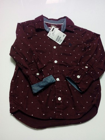 Ostala dečija odeća | Obrenovac: Košulja za dečake,bordo-ljubičaste boje,H&M,pamučna.Veličina je