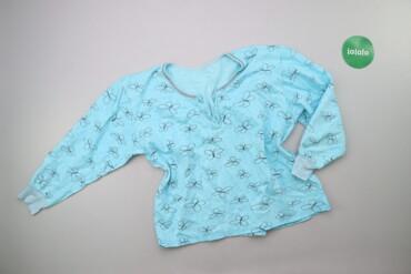 Жіноча піжамна кофтинка з принтом метеликів, р. L-XL   Довжина: 55 cм