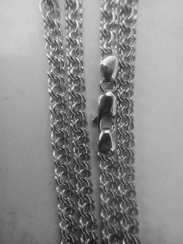 Цепь серебряная (Бисмарк)925 пробы,17грамм ширина 4,5мм. длина 61см. в Бишкек