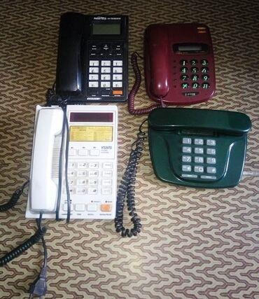 Продаю 4 стационарных телефона1) Черный Panatel б/у состояние
