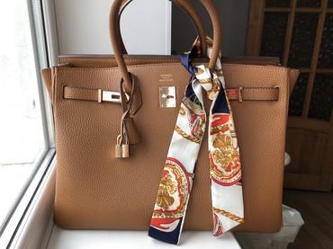 сумка-в-багажник в Кыргызстан: Hermes birkin camel 40 реплика люкс качества в отличном состоянии