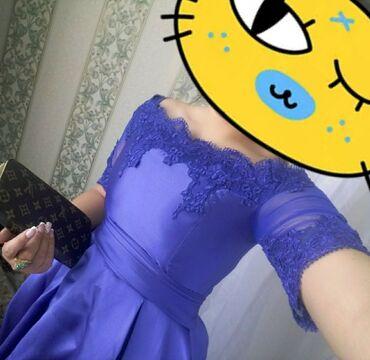 Женская одежда - Кой-Таш: Красивоевечернее синее платьеОтдам за 2.000 Покупала в