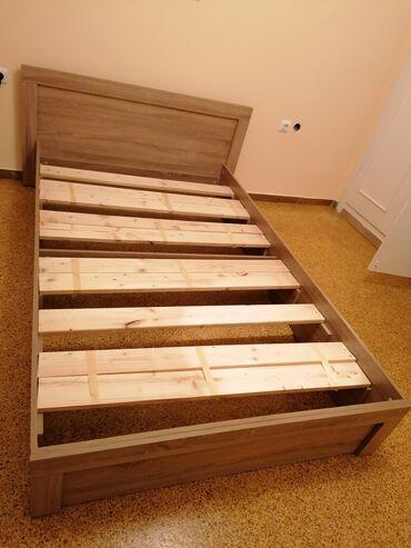 Κρεβάτι 1.20 ημιδιπλο ξύλινο