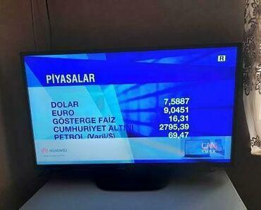 televizor 109 cm - Azərbaycan: Televizor 109 ekran smartdi ancaq vifi yoxdu kabel qosulmadi kart yeri