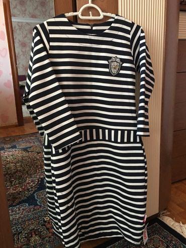 трикотажные платья турция в Кыргызстан: Платье трикотажное новое Турция размер 38-40 цена 500 сом