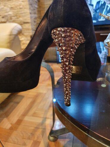 Prodajem Bata cipele sa srebrnom stiklom