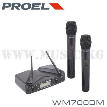 Микрофоны в Кыргызстан: Радиомикрофоны PROEL WM700DM это беспроводная микрофонная система с вы