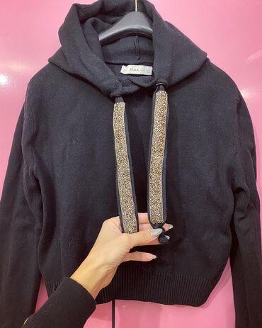 Sa kapuljacom - Srbija: Zara crni dzemper sa kapuljacom nosen samo jednom  U odlicnom stanju