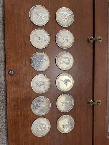 Τέχνη και Συλλογές - Ελλαδα: Συλλογή 12 Ασημένιων συλλεκτικων νομίσματων ολυμπιακών αγώνων 30 γραμμ
