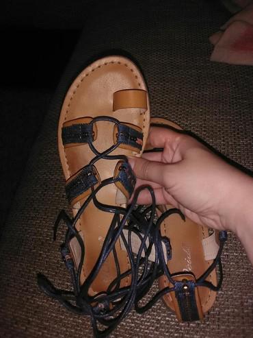 Sandale na vezivanje broj 37 dužina gazišta 24, jednom obuvene kao - Belgrade
