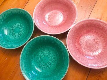Керамические тарелки из Индии. Прочная глазированная керамика