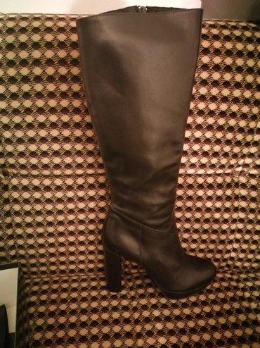 Ženska obuća | Vrsac: Prirodna koza, crne cizme, imaju malu platformu spolja, br.38, nove u
