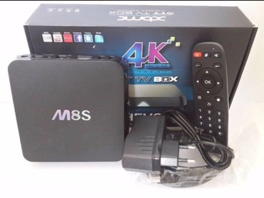 Android smart tv box m8s android box smart tv box procesor quad core.  - Beograd